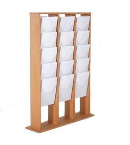 Prospektständer Holz Magazinständer 3x5 X A4 (je Seite)