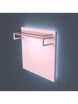 Kleiderständer Soro LED, Metall schwarz