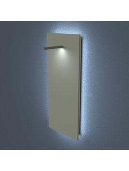 Kleiderständer Wopa LED, Metall schwarz