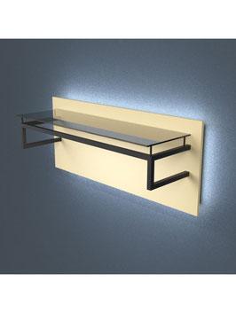Kleiderständer Zina LED, Metall schwarz