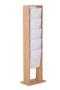 Prospektständer Holz Magazinständer 5 X A4 (je Seite)