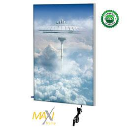 Textilspannrahmen MaxiFrame Star LED, einseitig