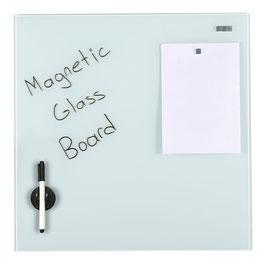 Magnetische Glas Platte weiss