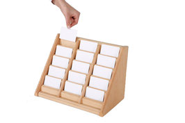 Visitenkartenhalter Holz 3 X 5