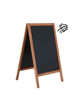 Kundenstopper C Board Holz-Aussenbereich