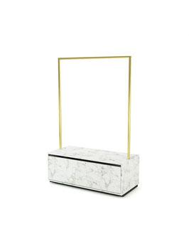 Kleiderständer Carolina, Metall gold matt gebürstet