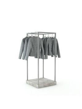 Kleiderständer Kia, Metall roh lackiert