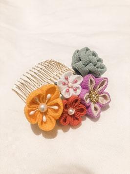 Handmade Tsumami  Flower Comb