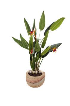 Plante Artificielle, Oiseaux de Paradis, bureau ou maison (vendu sans pot)