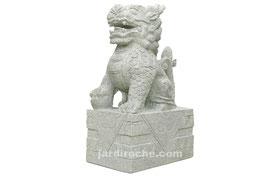 Qilin en granite 80 cm (vendu par paire)