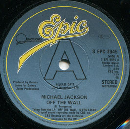 Michael Jackson - Off The Wall / Working Day And Night - UK Epic S EPC 8045