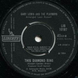 Gary Lewis And The Playboys - This Diamond Ring / Tijuana Wedding - UK Liberty LIB 10187