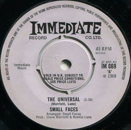 Small Faces - The Universal / Donkey Rides, A Penny A Glass - UK Immediate IM 069