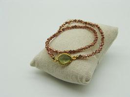 Loop-Armband, opalisierendes Rosé-Kupfer