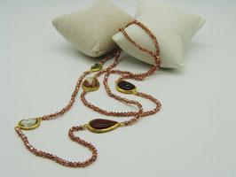 Zeitlos elegante Halskette, Kupfer-Rosé