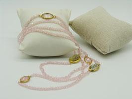 Zeitlos elegante Halskette, zartes Rosé