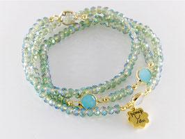 Dreier-Loop-Armband, aquatürkis