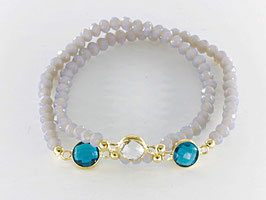 Doppel-Loop-Armband, blaugrau