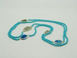 Zeitlos elegante Halskette, Aqua