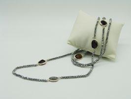 Zeitlos elegante Halskette, Pyritsilber