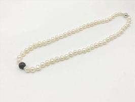 Kurze Perlenkette, Lava-Kugel