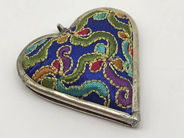 Anhänger Stoff Herz, Mulitcolor