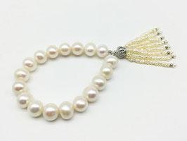 Perlenarmband mit Perlenquaste