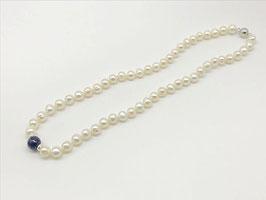 Kurze Perlenkette, Lapislazuli-Kugel