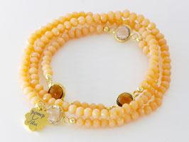 Dreier-Loop-Armband, apricot