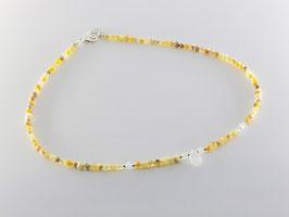 Kurze schmeichelnde Opalkette, Mondstein Tropfen
