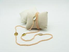 Zeitlos elegante Halskette, opalisierendes Champagner