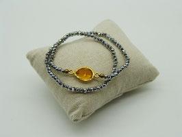 Loop-Armband, Pyritsilber