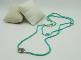 Zeitlos elegante Halskette, opalisierendes Türkis