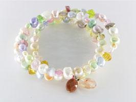 Spiralarmband, pastell