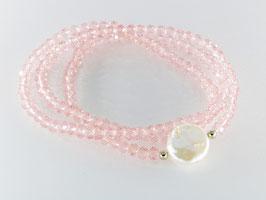 Dreier-Loop-Armband, Perle