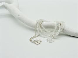Filigrane längere Mondstein/Silberkette mit Symbolanhänger