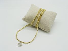 Filigranes Gold-Hämatit Loop-Armband