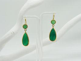 Edelstein Ohrringe grüner Amethyst + Peridot