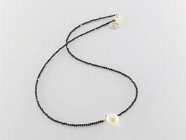 Kurze filigrane Spinellkette, Perle