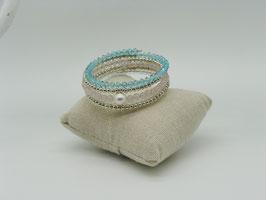 Spiralarmband Rosenquarz