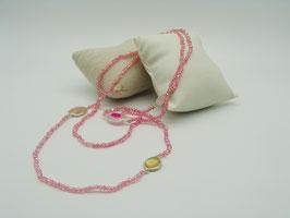 Zeitlos elegante Halskette, helles Pink