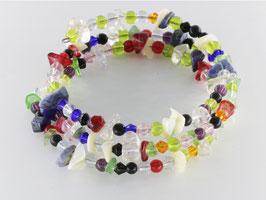 Spiralarmband in bunten Farben