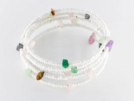 Spiralarmband in zarten Farben