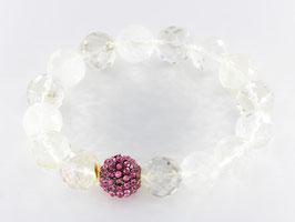 Elegantes-Steinarmband, Bergkristall