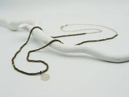 Filigrane längere Copper-Rock/Silberkette mit Symbolanhänger
