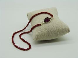 Loop-Armband, leuchtendes Rot