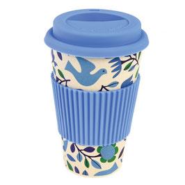 Coffee Mug/ Coffee to go Becher Folk Doves
