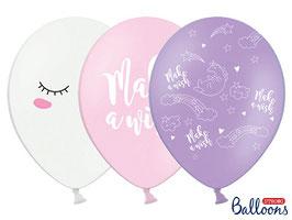 10 Luftballons 30 cm Einhorn Mix