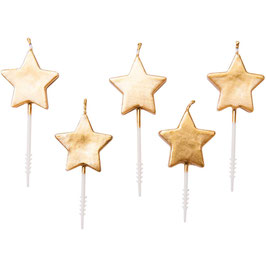 Geburtstagskerzen Stern Gold