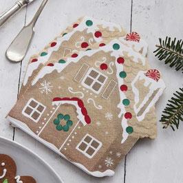 Servietten Gingerbread House